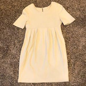 H&M beige pleaded career dress